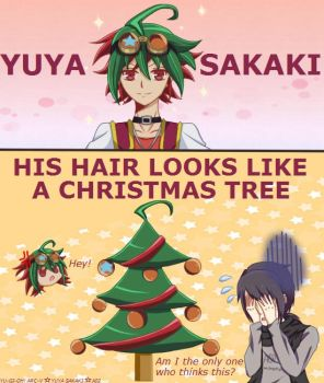 Yuya Sakaki Christmas Tree Hair by Tenkana