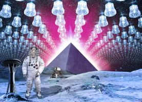 RA and the Black pyramid by rejectsocietyfx