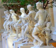 Dancing Statues in the Louvre Museum by Cloudwhisperer67