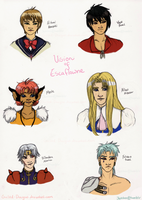Vision of Escaflowne Lineup by Guiled-Dragon