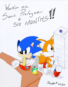 Sonic Prologue 6 Month Marker by DoryaNelson
