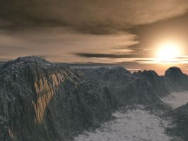 SnowCanyon Light - Terragen6 by furryphotos