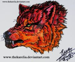 Red Wolf by TheKarelia