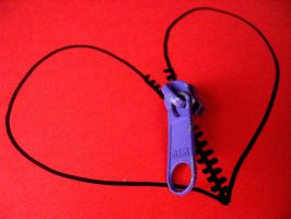Heart Zipper by KyraTeppelin