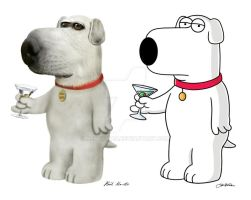 Brian Griffin real cartoon by Nestaman