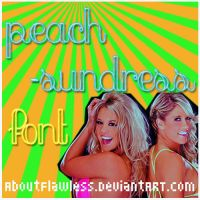 Peach-Sundress Font by AboutFlawless