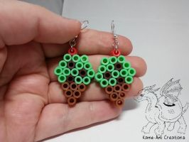 Chocolate chip Mint ice cream earrings by Kame-ami