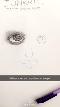 When you can only draw one eye... by Whooshie-Duck