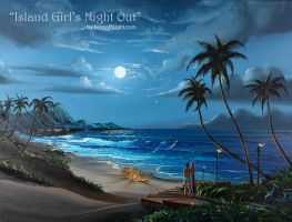 Girls Night Out on Maui by kennethdahlart