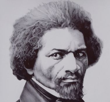 Fredrick Douglass in Ballpoint Pen High Res. w/vid by J-Stephen-Gazsi