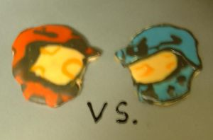 Red vs. Blue- Cookies by RubyQuinn