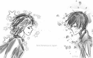 Hetalia : fem!America vs Japan - WWII by P0uic