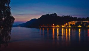The Danube at night by j-amie