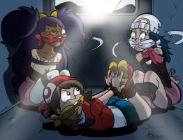 Pokemon girls in a van by letiprincess
