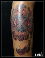 Cover Up Skull WIP by kwickrodrigues