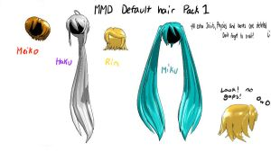 MMD default hair dowload by Vocaloid98