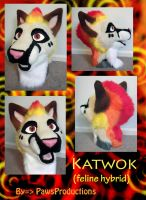 Katwok head by PlushiePaws