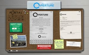 Aperture Labs Bulletin Board by vectorgeek