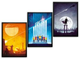 Star Trek Triptych Assembled by BarbarianFactory