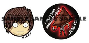 Silent Hill badges by Silent-Neutral