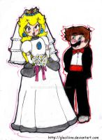 Mario and Peach's Wedding by Glaciliina