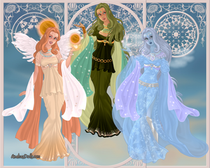 GoddessMaker: Titanesses-  Eos, Dione and Aura