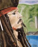 Johnny Depp - Sparrow's Profile by shaman-art