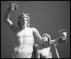 Bacchus and Friend by wiebkefesch