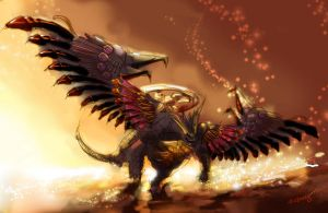 Bahamut (FFX Version) by zephyr-flutist