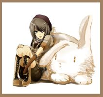 Guu: Choco and The Ugly Rabbit by ahoguu