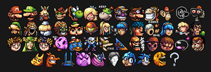 Super Smash Bros - Character Icons by KhaoMortadios