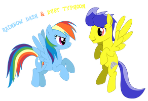 Rainbow Dash and Dust Typhoon by LightDragon87