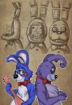FNAF - Bonnie, Toy Bonnie and Withered Bonnie by fiszike