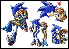 Sonic and Sally doodles by zeiram0034