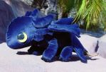 Large Toothless Plush by Patchwork-Shark