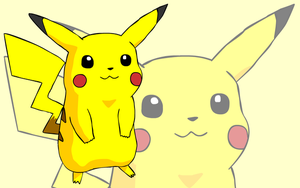 Pikachu Standing Wallpaper by beebarb