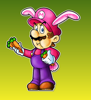Rabbit Mario by MushroomWorldDrawer