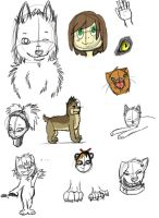 :Art doodles: 4 by IronMeow