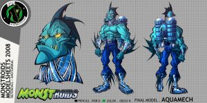 Monstroids Modelsheet 03 by RobDuenas