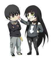 PC: Rie and Rokuro by DaemonB4