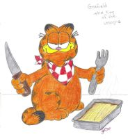 Garfield The Lasagna King by AngelSkyXXIV