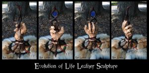 Evolution of Life Leather Sculpture by Epic-Leather