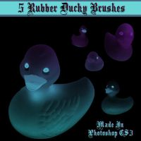 5 Rubber Ducky Brushes by dollieflesh-stock