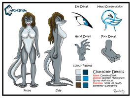 OC: Carmena Shark Character Sheet by The-B-Meister