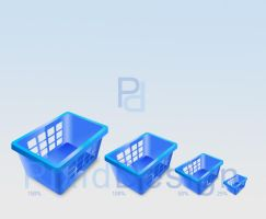 Shopping Basket Icons 3D by OoflyingmoonoO