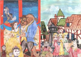 Beauty and the Beast Card by Meowkin