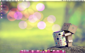 My pink desktop Mac OS X by tunerbarbie