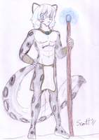 Snow Leopard Mage by JohnZScott