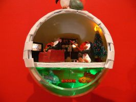 Igloo Christmas Bauble by Jalpon