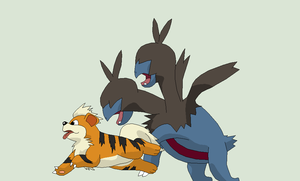 Pokemon Base 110~Zweilous and Growlithe~ by Xbox-DS-Gameboy